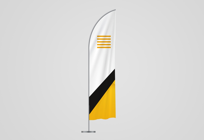 Beachflags gerade Form