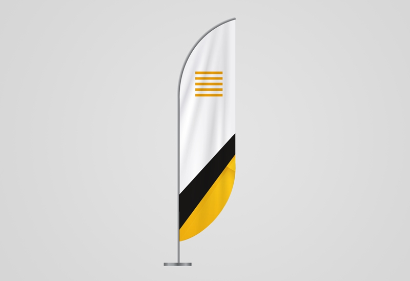 Beachflags konvexe Form
